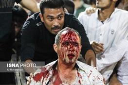 فیلم   حواشی خونین دیدار استقلال خوزستان و پرسپولیس   سر و صورتهای زخمی