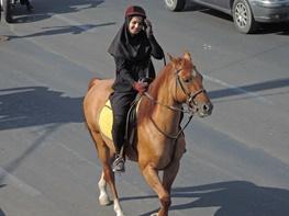 راهپیمایی اسب ها در ارومیه
