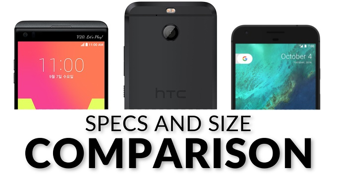 مقایسه فنی گوشی اچتیسی بولت با الجی وی۲۰ و گوگل پیکسل ایکسال
