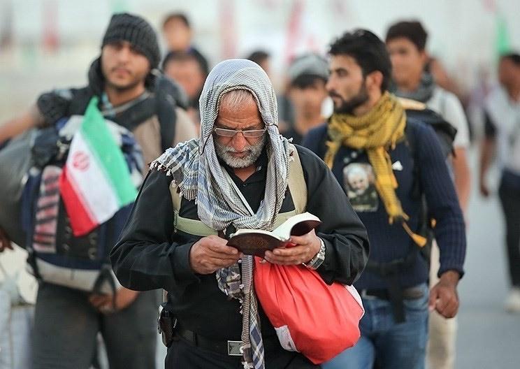 تصاویر | پیادهروی زائران اربعین حسینی از نجف به کربلا