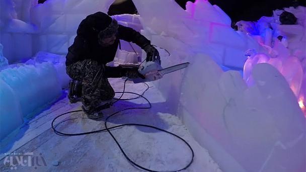 فیلم | شاهکارهای یخی در بلژیک