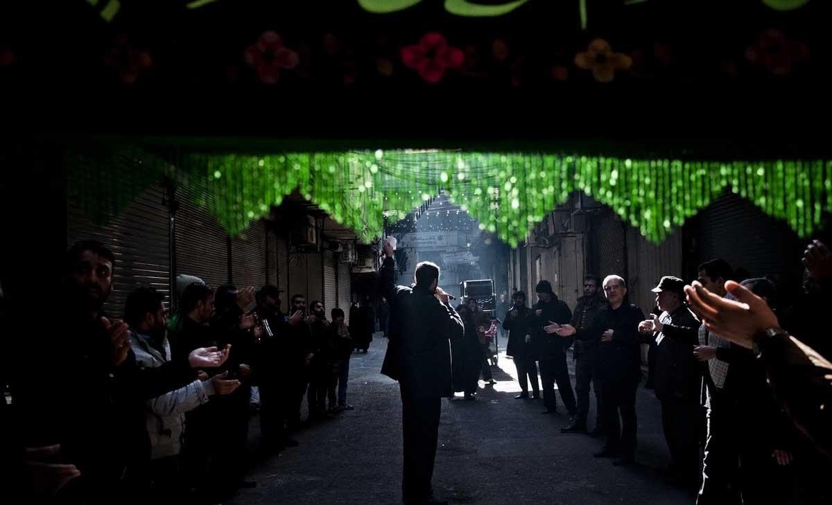 تصاویر | عزاداری ایام پایانی ماه صفر در بازار تهران