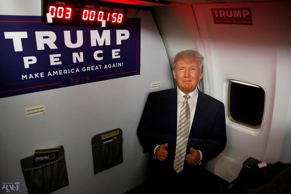 عکس | ترامپ مقوایی و شمارش معکوس برای برگزاری انتخابات آمریکا