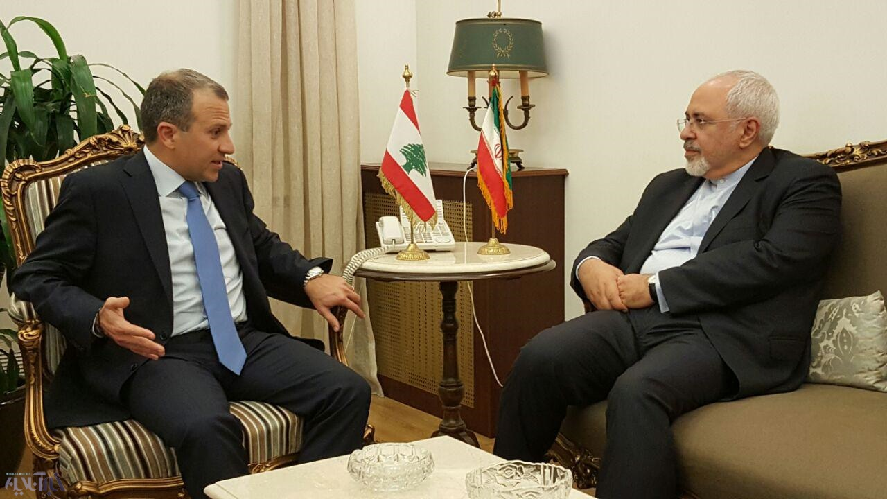 عکس| نشست خبری ظریف با همتای لبنانی