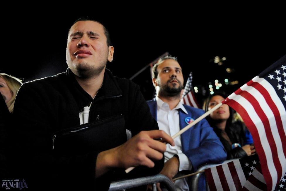 تصاویر   طرفداران مغموم هیلاری کلینتون   اوج غم و ناامیدی در اردوی هیلاری