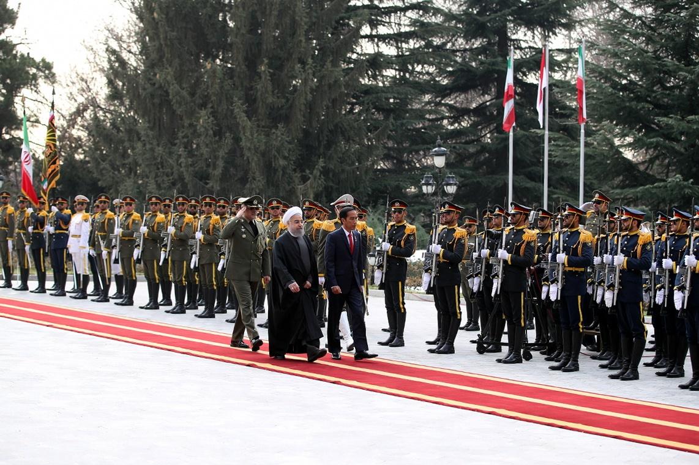 استقبال رسمی روحانی از رییس جمهوری اندونزی در کاخ سعدآباد