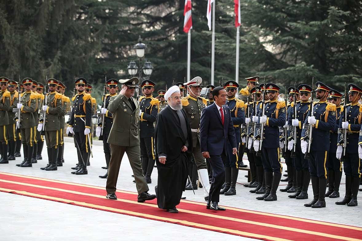 عکس |  استقبال رسمی روحانی از رییسجمهوری اندونزی