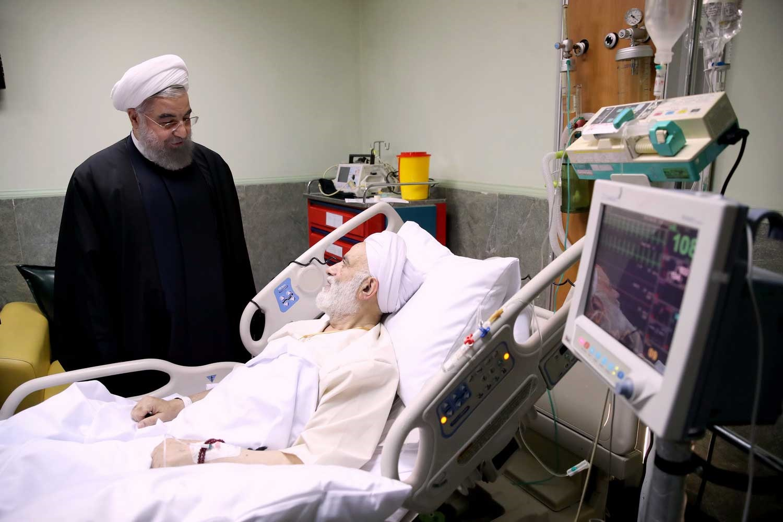 تصاویر | عیادت روحانی از حجت الاسلام والمسلمین قرائتی