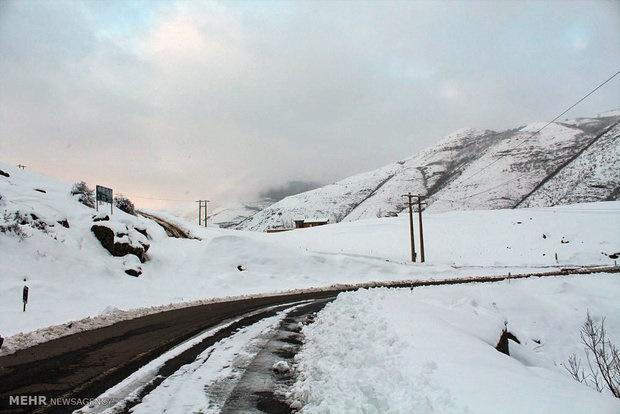 مهآلودگی و بارش برف در محور چالوس/ هشدار هواشناسی به مسافران