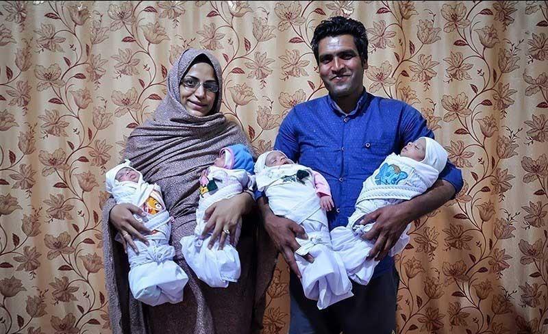 تصاویر | تولد چهارقلوها در سیستان و بلوچستان
