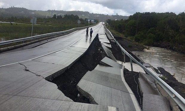 تصاویر | زمینلرزه ۷.۶ ریشتری در شیلی