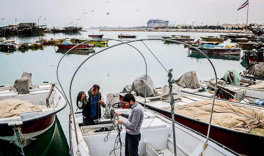 تصاویر   اسکله صیادی جفره وتلاش ماهیگیران