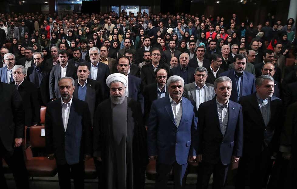 تصاویر | روحانی در دانشگاه تهران | مراسم گرامیداشت روز دانشجو