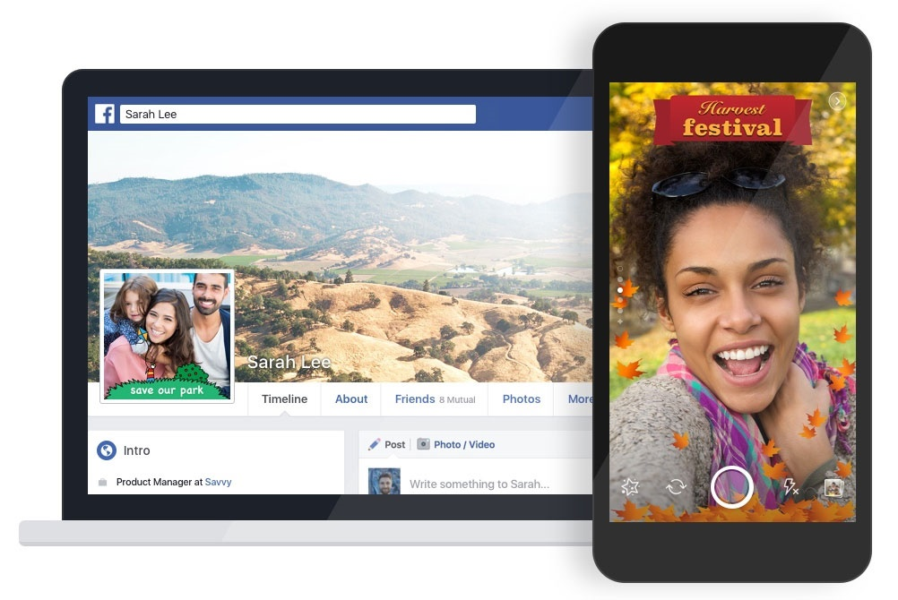ساخت فریم برای عکسها و ویدئوها در فیسبوک به تقلید از اسنپ چت