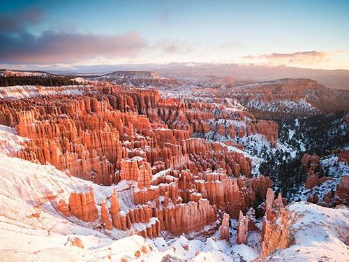 اولین برف،اولین آفتاب/عکس روز نشنال جئوگرافیک