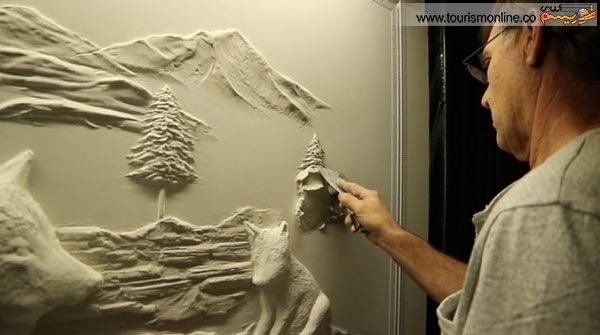 نقاشی های دیواری سه بعدی