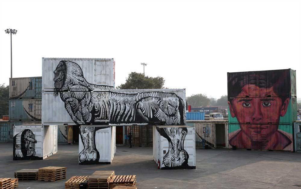 جشنواره نقاشیهای خیابانی در دهلی