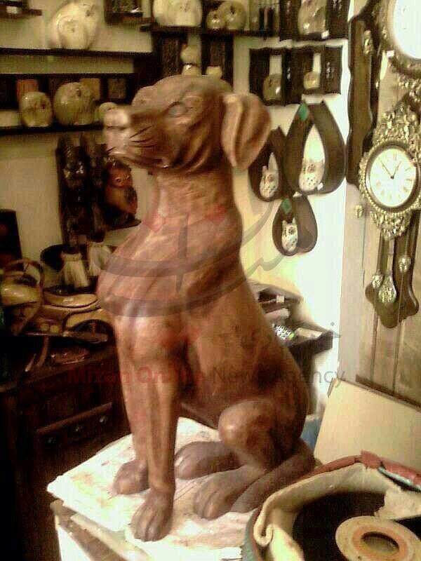 تندیس سگ کتک خورده در گلستان ساخته شد/ عکس