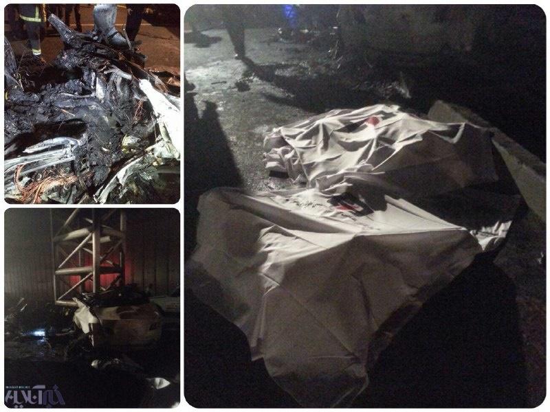 تصادف مرگبار یک BMW با پل عابرپیاده در بزرگراه نیایش/ ۳ نفر کشته شدند/ عکس