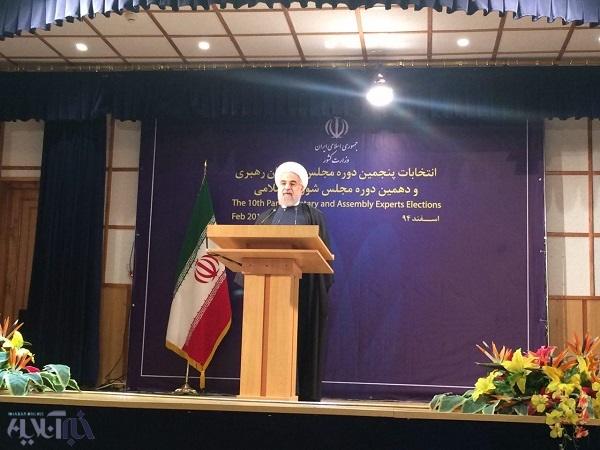 روحانی:همه در انتخابات برندهاند/دولت آرا مردم را امانت میداند/تلویزیون رای دادن روحانی راپخش نکرد