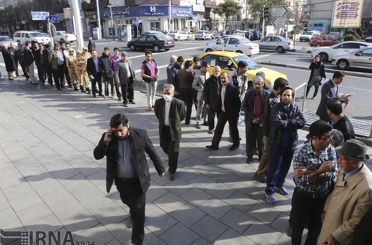 حضور مردم تهران در پای صندوق رای