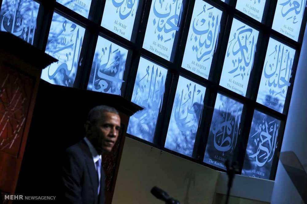بازدید اوباما از یک مسجد