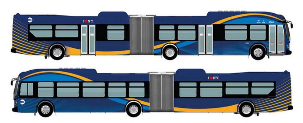 اتوبوسهای تمام فناورانه نیویورک را ببینید
