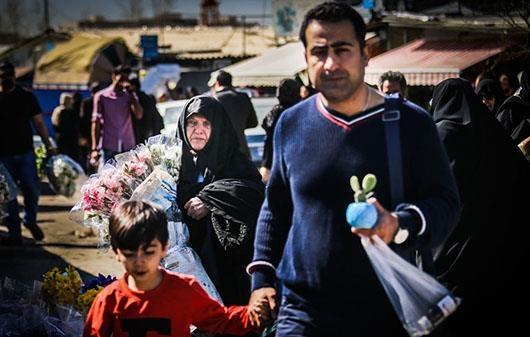 بازار گل تهران در آستانه سال نو