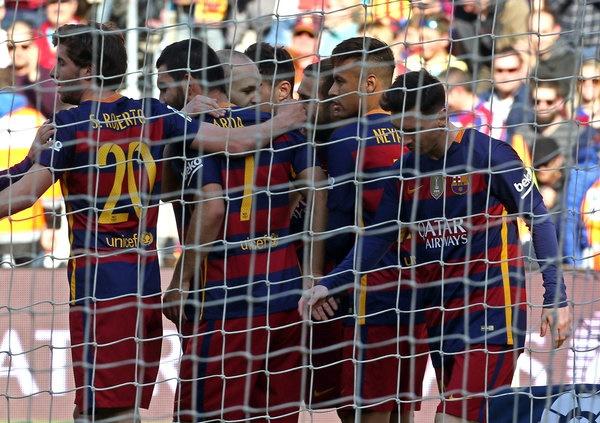 صعود آسان بارسلونا به یک چهارم نهایی اروپا
