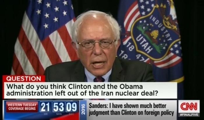 سندرز : اقدام آمریکا در سرنگونی مصدق فاجعه بود/ به شدت از توافق با ایران حمایت میکنم