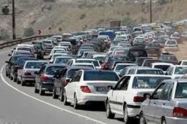 ترافیک نیمه سنگین در جاده های فیروزکوه، هزار و چالوس/ بارش باران در ۶ استان
