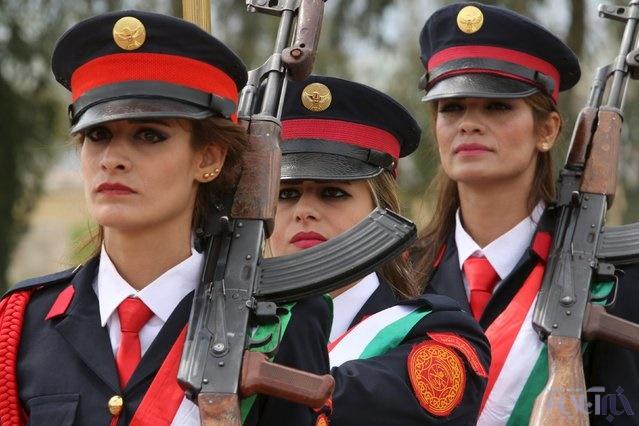 16 4 1 1047381 - این زنان به جنگ داعش میروند+تصاویر