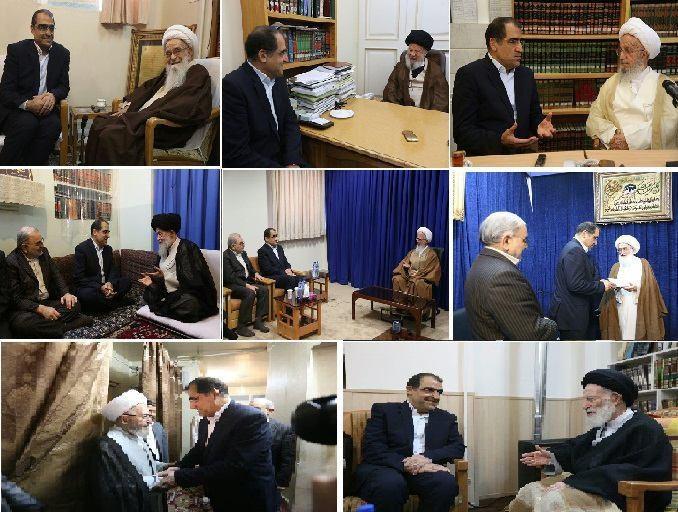 دیدار وزیر بهداشت با مراجع عظام/تقدیر از عملکرد دولت، وضعیت دیابت در ایران و بیانصافی های پسابرجام