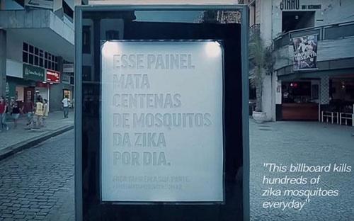بیلبوردی که عامل انتقال زیکا را به دام میاندازد/ابتکار جدید محققان در خیابانها