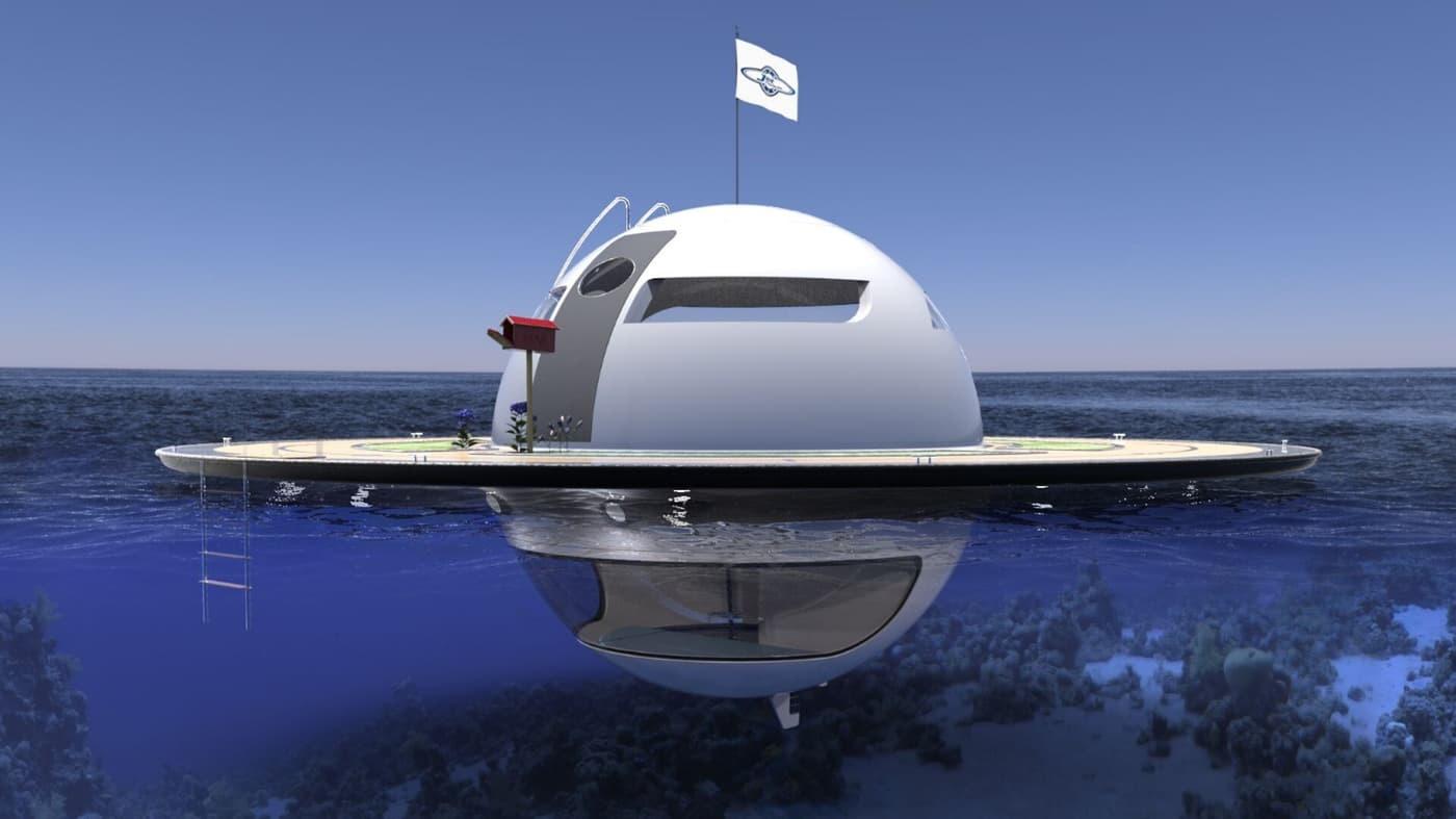 خانه آینده روی آب شبیه زحل را ببینید