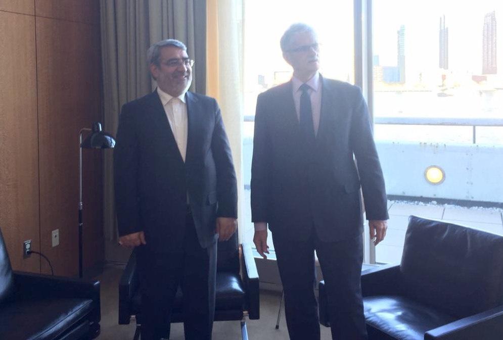 دیدار رحمانی فضلی با رئیس مجمع عمومی سازمان ملل/ پیشنهاد وزیر کشور برای مقابله با موادمخدر