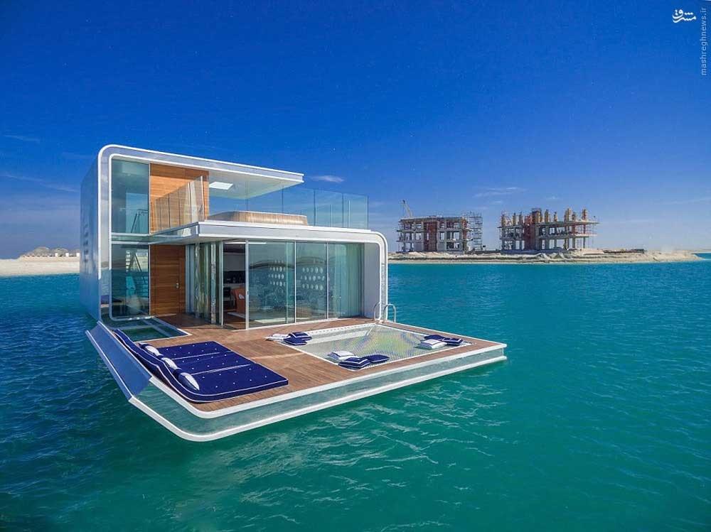 ویلاهای شناور در آب های دبی