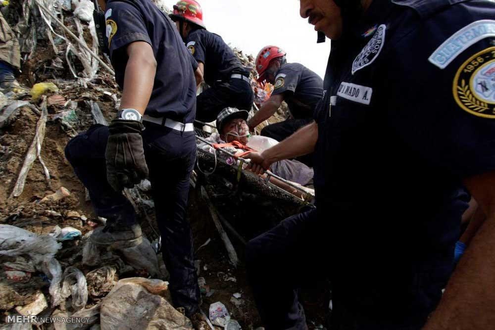 فرو ریختن محل دفن زباله در گواتمالا