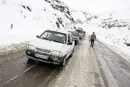 برف بهاری جاده چالوس را سفیدپوش کرد