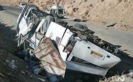 جزئیات تصادف مرگبار اتوبوس دانش آموزان/ ۲ نفر کشته و ۱۰ نفر مصدوم شدند