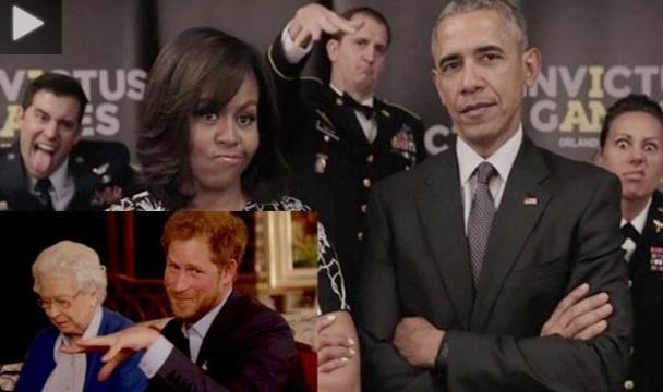 پاسخ نوۀ ملکۀ انگلیس، به چالش همسر اوباما