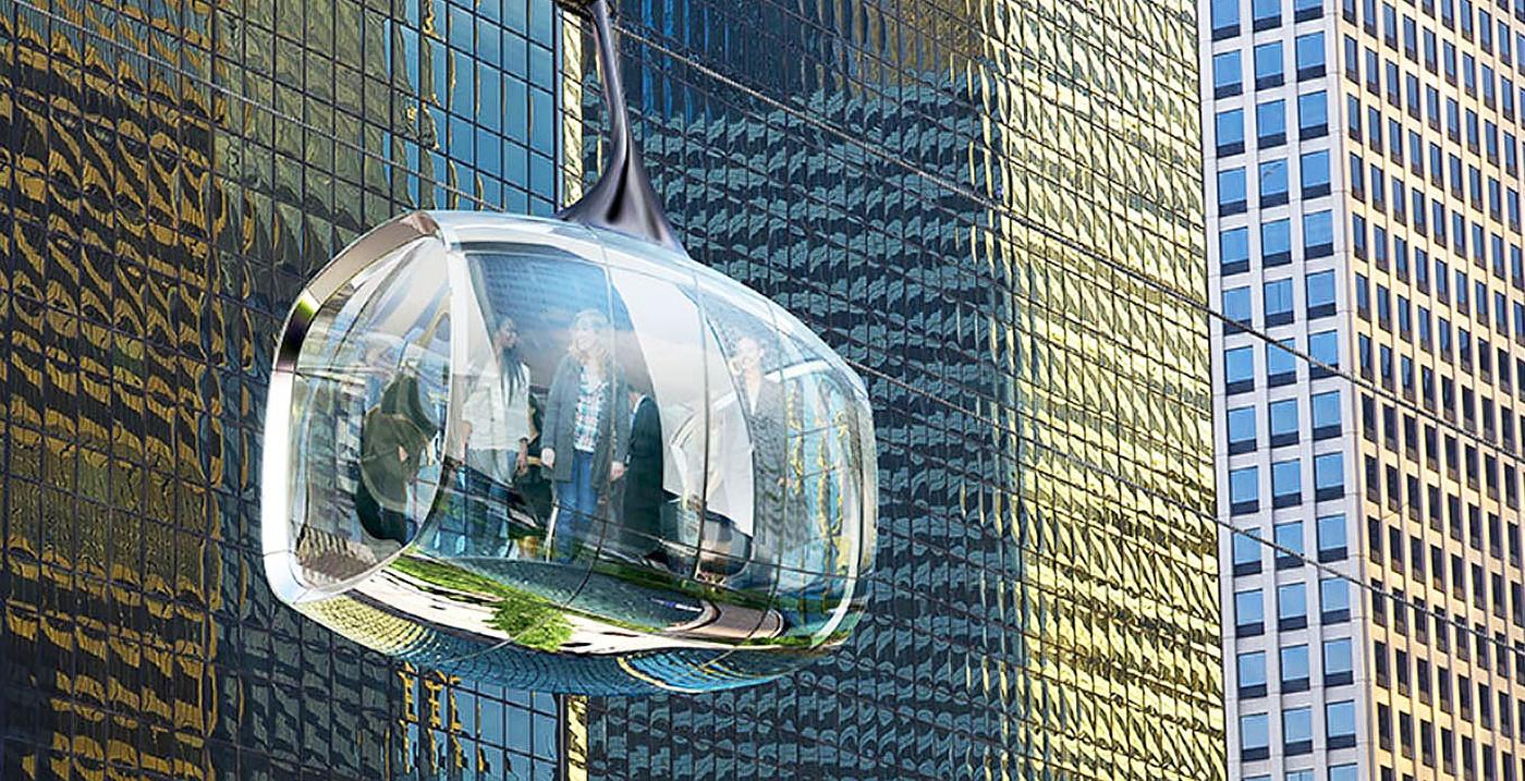 تاکسی تلهکابین خودران برای آسمان خراشهای شیکاگو / عکس