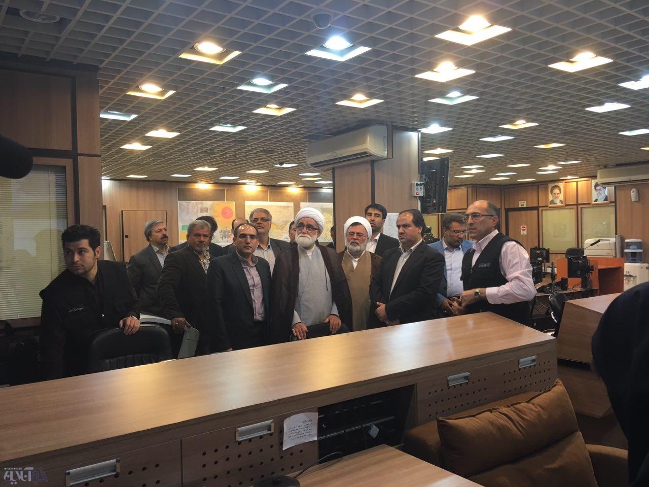 بازدید نماینده ولی فقیه در جمعیت هلال احمر از سازمان مدیریت بحران شهر تهران