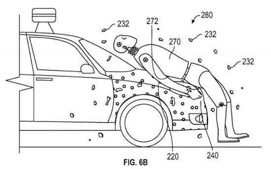 نجات جان عابر برخوردکننده با خودروی خودران گوگل با چسب جادویی / عکس