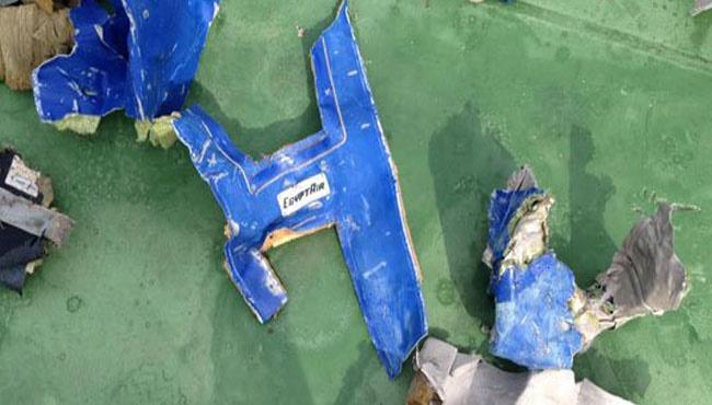 آنچه از هواپیمای مصری باقی مانده است