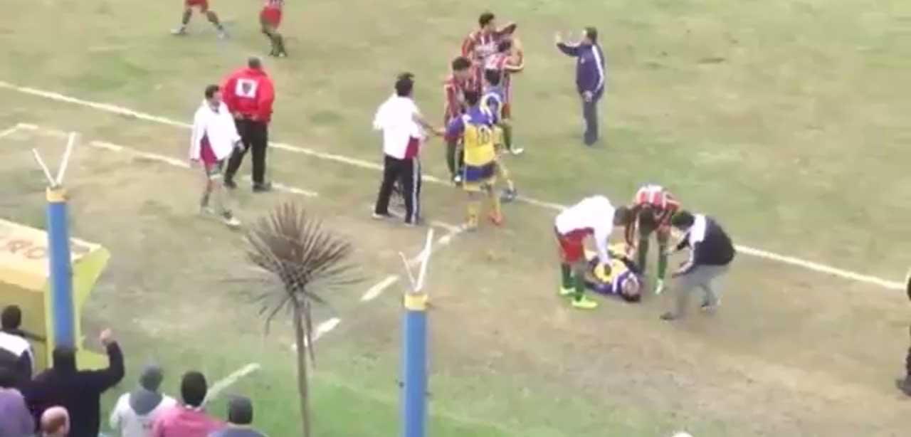 مرگ دلخراش بازیکن آرژانتینی در جریان بازی