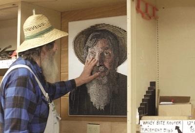 مرد نابینا پرتره هنری خودش را دید!