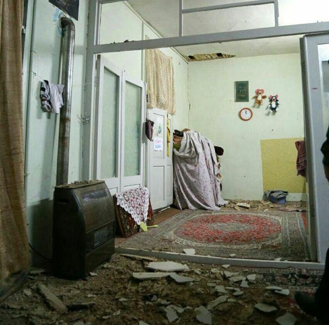 تصاویری از آخرین وضعیت و خسارت زلزله 4.8 ریشتری بجنورد