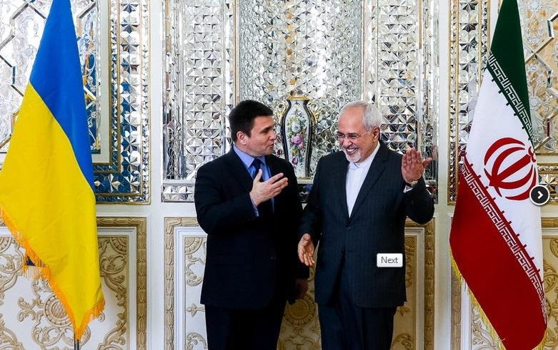 ظریف به وزیر خارجۀ اوکراین چه گفت؟