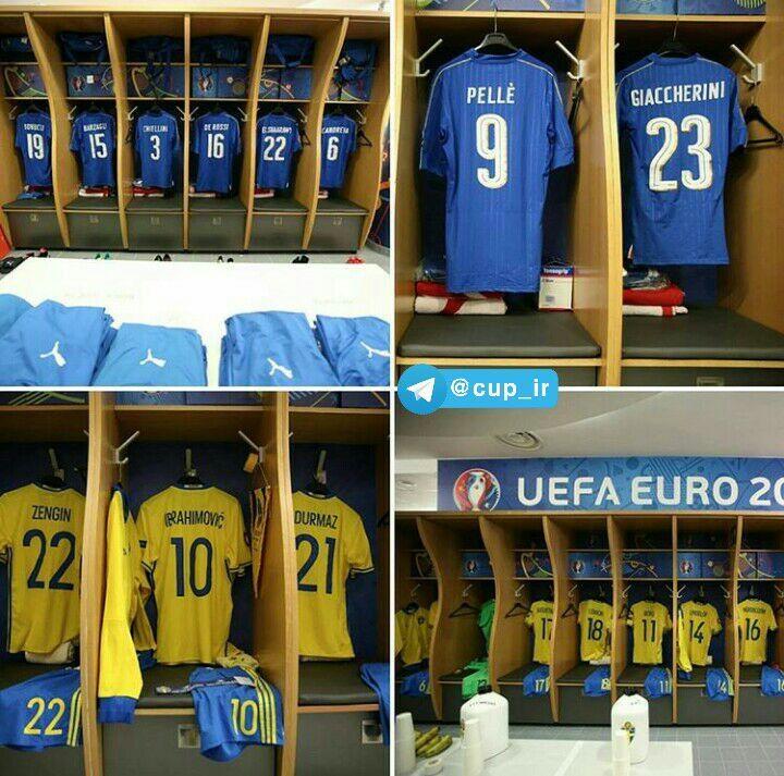 تساوی سوئد و ایتالیا در نیمه اول